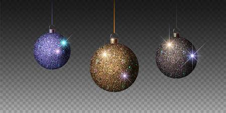 Shiny christmas ball. Realistic Christmas tree ball. Vector Zdjęcie Seryjne - 127646606