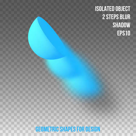 Geometric element for design. Isolated object with blur and shadow. 3D vector.