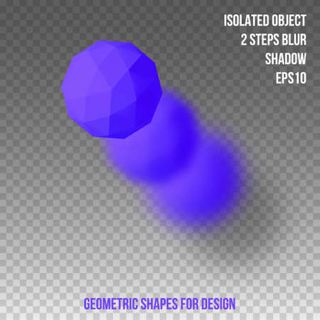 Geometric shapes. Element for design. Isolated object with blur and shadow. 3D vector illustration Ilustracja