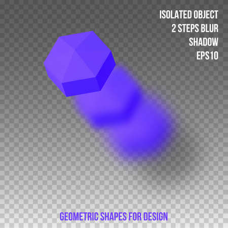 Geometric shapes. Element for design. Isolated object with blur and shadow. 3D vector illustration