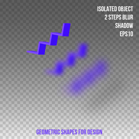 Geometric shapes. Element for design. Isolated object with blur and shadow. 3D vector illustration Ilustração