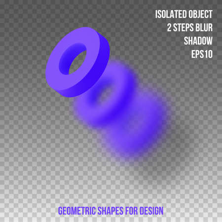 Geometric shapes. Element for design. Isolated object with blur and shadow. 3D vector illustration Zdjęcie Seryjne - 124226999
