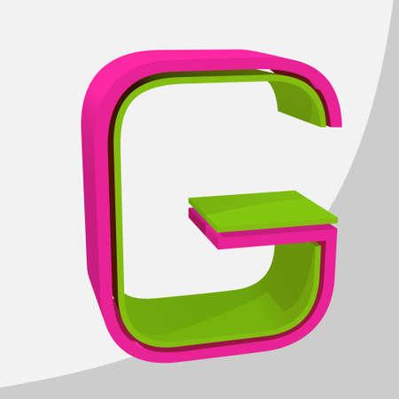 Colorful big 3D letter. Trendy vector illustration. Zdjęcie Seryjne - 125576031