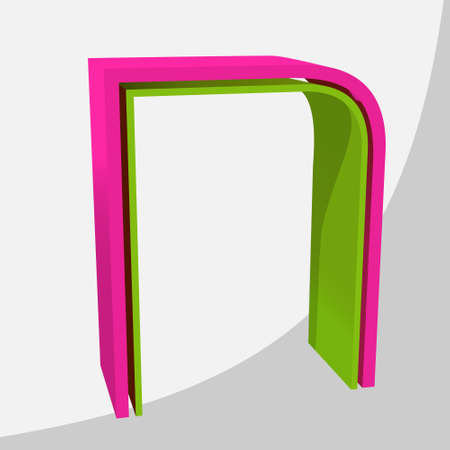 Colorful big 3D letter. Trendy vector illustration. Zdjęcie Seryjne - 125576069