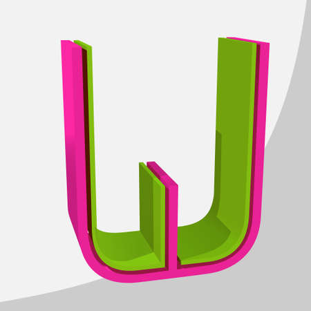 Colorful big 3D letter. Trendy vector illustration. Zdjęcie Seryjne - 125576090