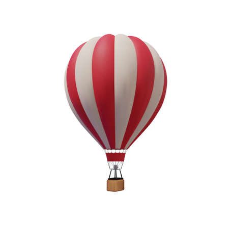 Hot air balloon isolated on a white background. Vector. 矢量图像