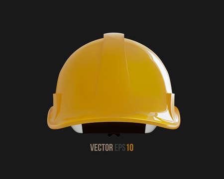 Isolated yellow hard hat. Realistic 3D Vector Illustration 矢量图像