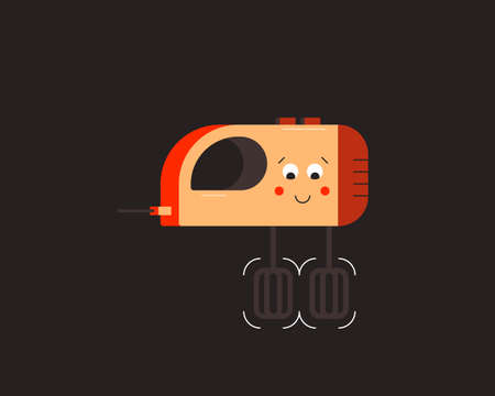 Mixer. Small household appliances character. Vector illustration. 向量圖像