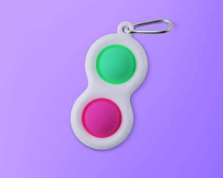 Fidget toy Simple Dimple. Realistic vector 3D illustration Ilustração