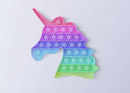 New popular sensory anti-stress toy - Pop it. Isolated on a white background. Realistic vector 3D illustration Imagens