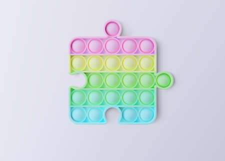 New popular sensory anti-stress toy. Isolated on a white background. Realistic vector 3D illustration