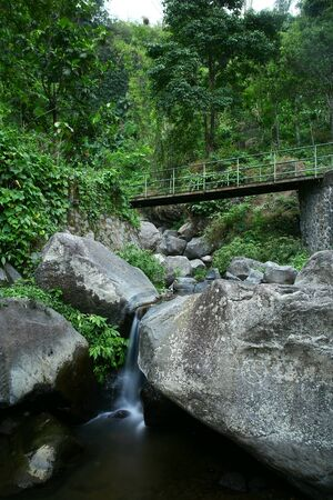 construction: The way lead us to Coban Canggu Waterfall, Indonesia.