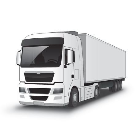 locomotion: Black and White Truck with a heavy black stroke vectorized Illustration