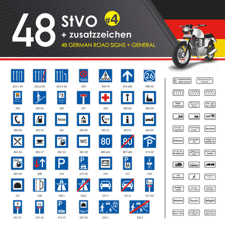 parking is prohibited: Vector - 49 StVO + Zusatzzeichen #4 (49 German Road Signs #4) Illustration