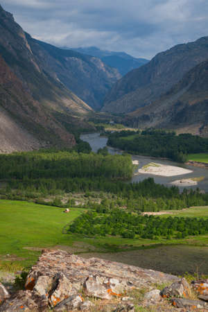 River gorge in the mountains Chulyshman Russian Altai photo