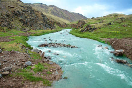 The mountain river in the Altai Mountains in Siberia Stock Photo - 11926463