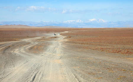 Mongolian roads are very specific photo