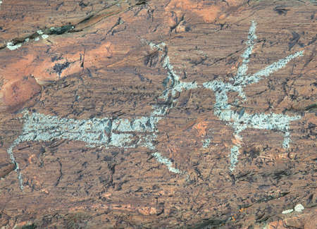 paleolithic: Ancient rock paintings in the Mongolian Altai Mountains