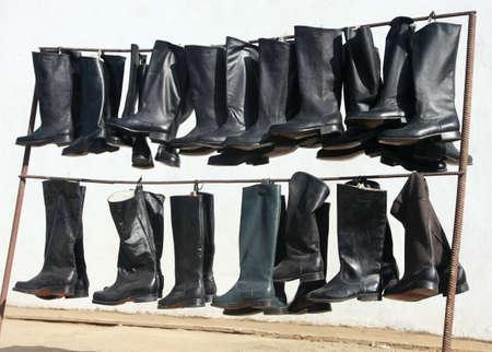 rainwear: Mongolian market, sales of cavalry boots