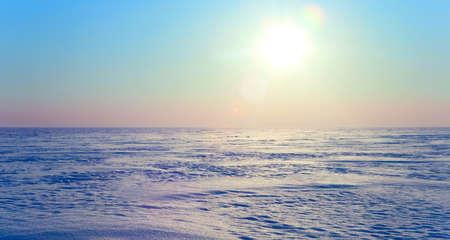 froid de l'hiver dans la toundra en Sibérie polaire Banque d'images - 13014264