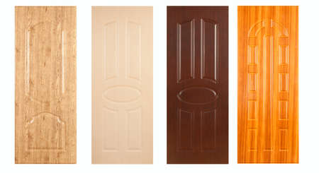 A collection of wooden panels on the white background photo