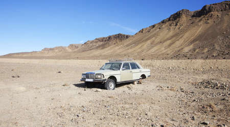 old car in the Asian desert Gobbi photo