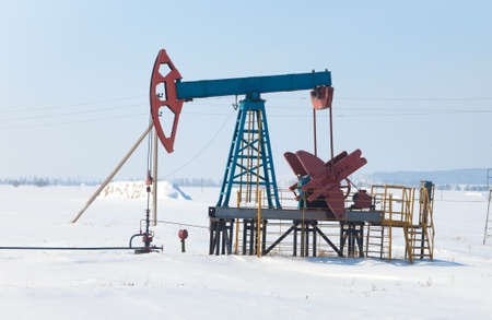 The pump for pumping oil. Siberia, Russia photo