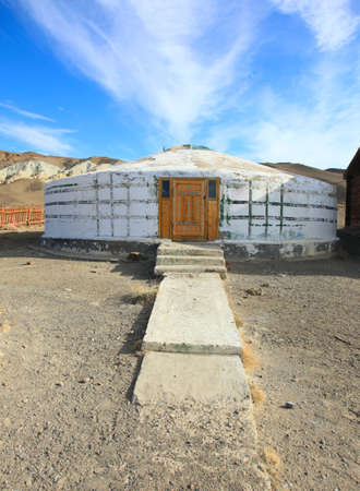 independent mongolia: Yurt Stone of white light. North Mongolia