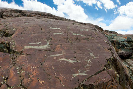 The ancient drawings on rocks  Stock Photo - 15916551