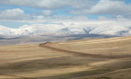 The state border between Rosiey and Mongolia Stock Photo - 16872471
