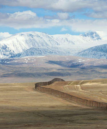 The state border between Rosiey and Mongolia Stock Photo - 16872417