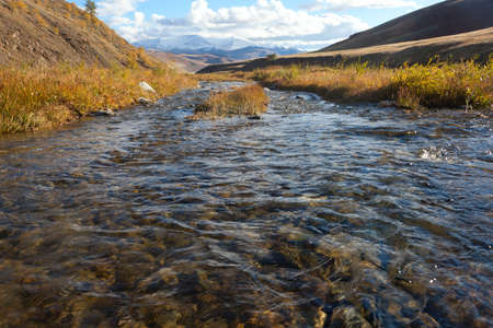 Steppe river in the Altai mountains photo