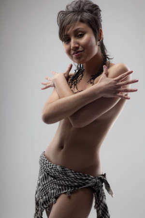 Beautiful young woman of Asian appearance photo