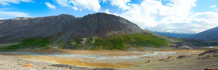 taldura river in the Altai Mountains in the early autumn Stock Photo