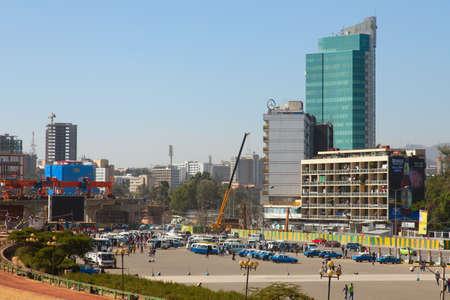 ababa: ETHIOPIA ADDIS ABABA DECEMDER 21,2013. Streets of the capital  in Ethiopia Addis Ababa  December 21,2013.