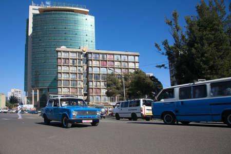 ababa: ETHIOPIA ADDIS ABABA DECEMDER 05,2013. Streets of the capital of Ethiopia Addis Ababa in December 05,2013. Editorial