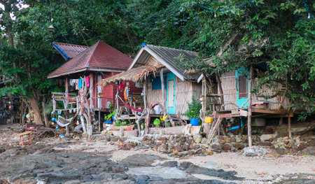 bungalows: Hippy bungalows on the Kho Phayam Island