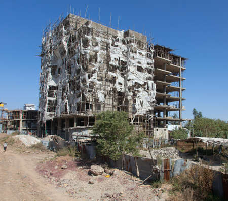 addis: Addis Ababa home building in the Ethiopian capital