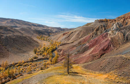 lofty: A typical glaciated U-shaped valley Stock Photo