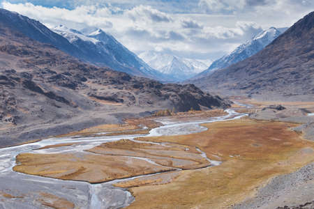 typical: A typical glaciated U-shaped valley Stock Photo