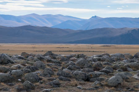 mounds: Royal burial mounds in the valley of the kings in Altai