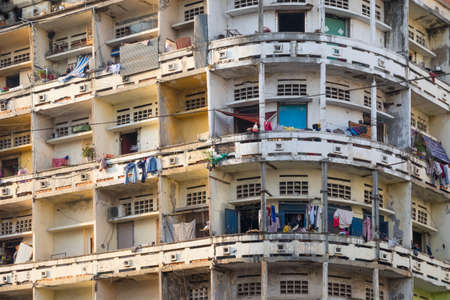 underdeveloped: The appearance of apartments in Phnom Penh. The Capital Of Cambodia Stock Photo