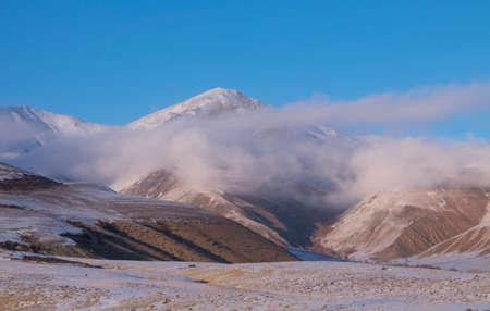 altai: Beautiful winter day in the Altai mountains