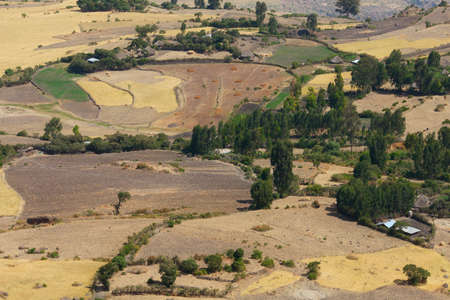 agricultural area: agricultural area in Ethiopia. rift valley Stock Photo