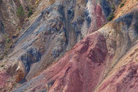Exposed geological layers as a result of erosion