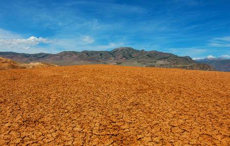 lifeless: Desert lifeless place in Central Asia Stock Photo
