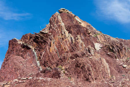 stratigraphy: Exposed geological layers as a result of erosion