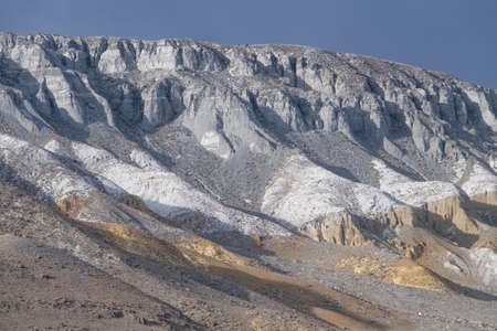 layers: The geological layers of the ice age Stock Photo