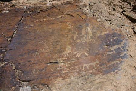 Ancient rock carvings close-up Stok Fotoğraf