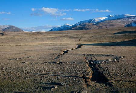 earthquake crack: Earthquake crack in the mountains Stock Photo